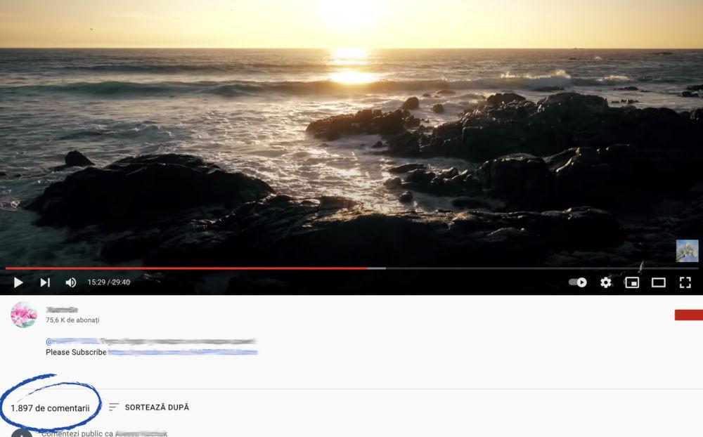 cumpărați comentarii youtube pe canal