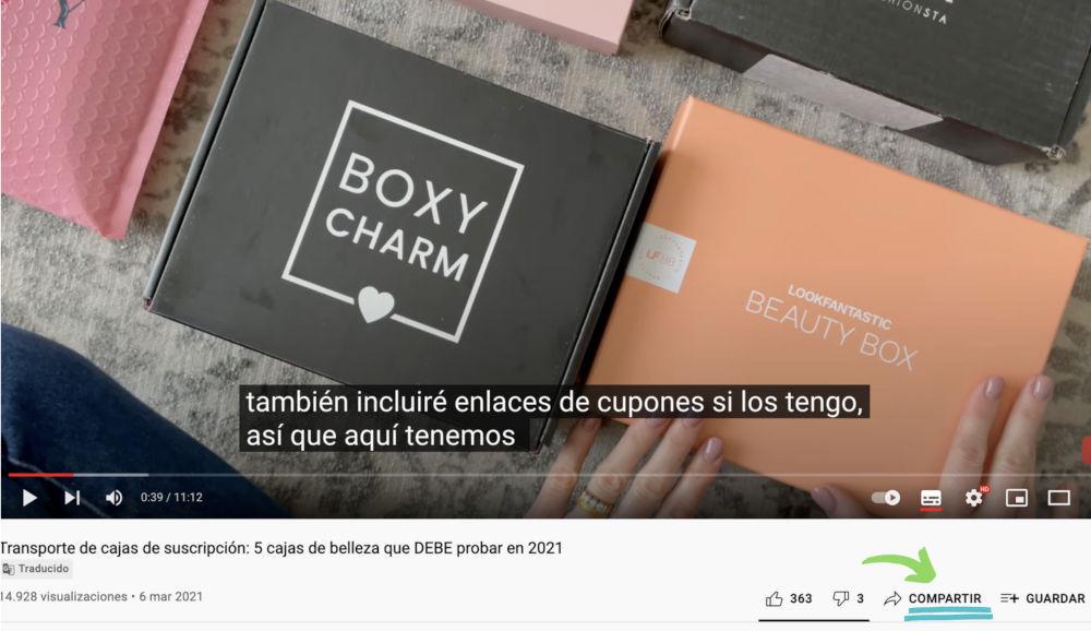 reales youtube shares para los videos